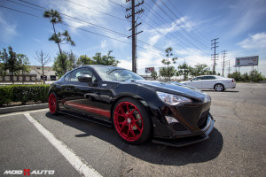 Scion FRS | Ohlins Suspension | HRE P101 Brushed Red .