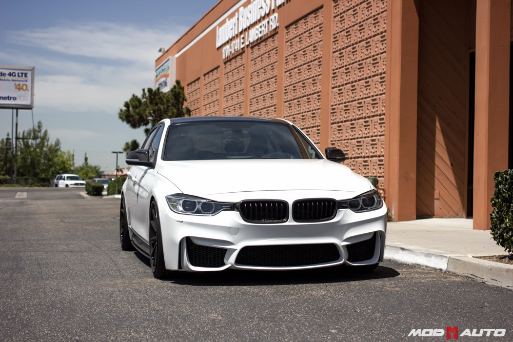 bmw f30 with a f80 m3 style bumper upgrade mod auto. Black Bedroom Furniture Sets. Home Design Ideas