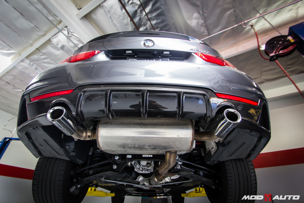 Carbon Fiber Rear Diffuser For 2014 Bmw 4 Series F32