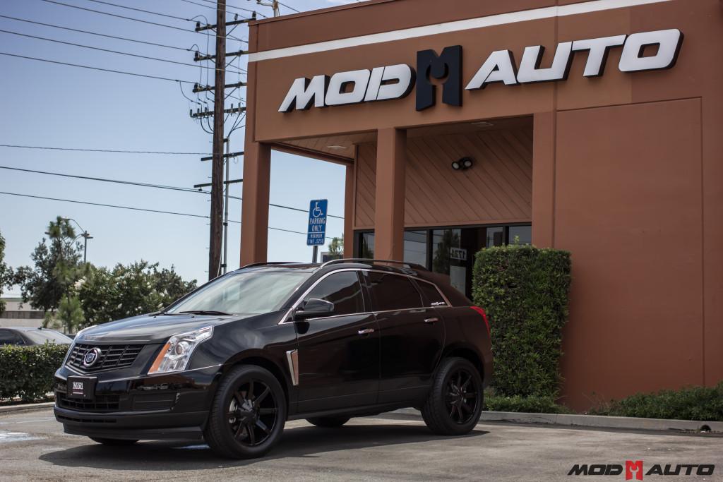 2015 Cadillac Srx On 20 Kmc Slide 651 Gloss Black Wheels