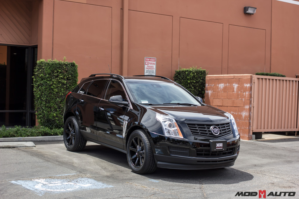 2015 Cadillac Srx On 20 Kmc Slide 651 Gloss Black Wheels