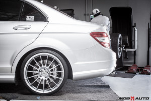 Mercedes Benz C63 AMG | H&R Super Sports | HRE FF15 | Toyo T1's