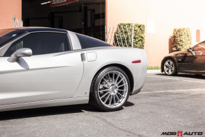 Chevy Corvette with HRE FF15 Liquid Silver 20×9.5 | 20×11 + Vortech Supercharger.