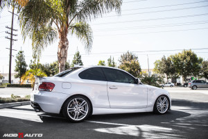 BMW E82 135i gets Vogtland Lowering Springs Installed