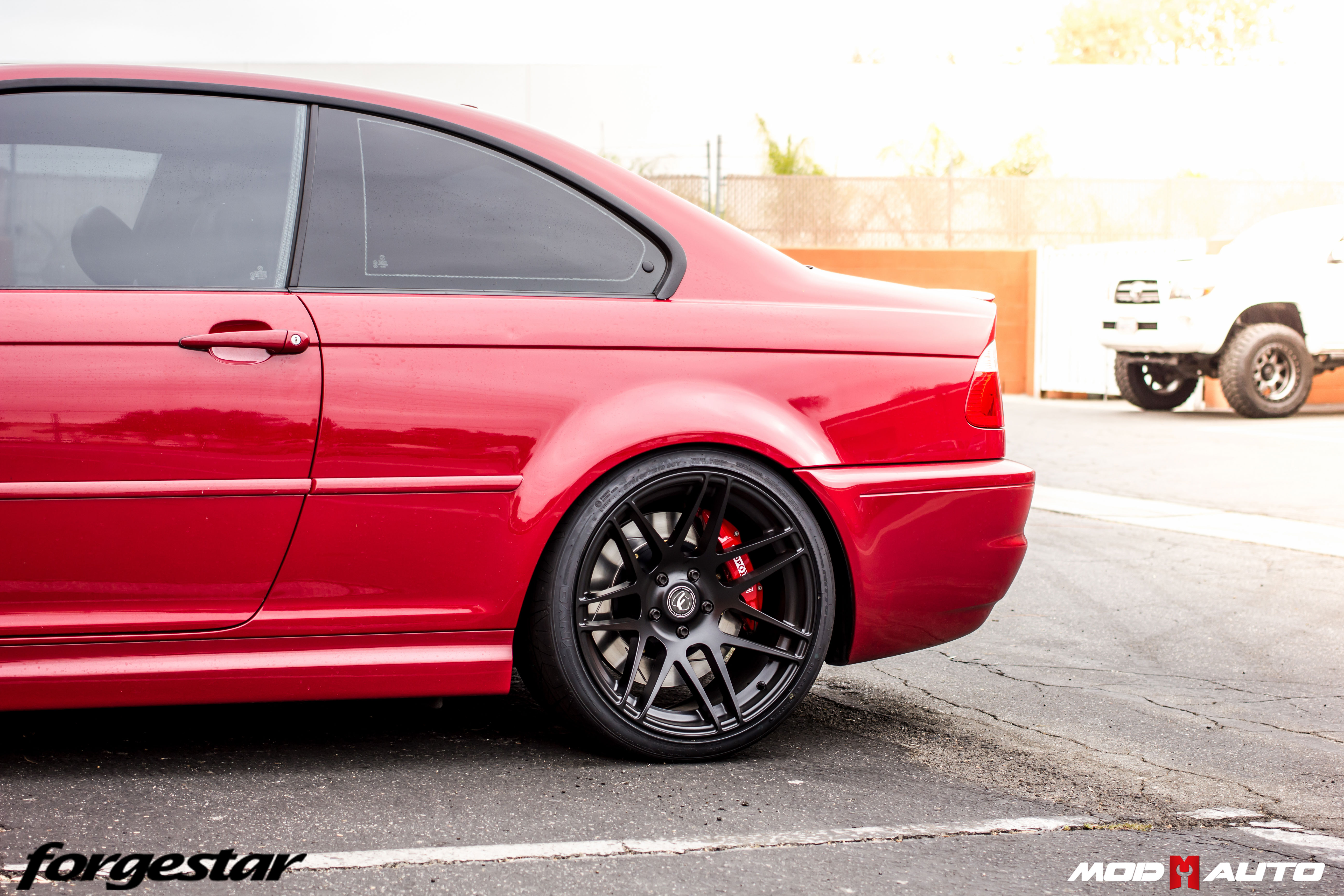 Brembo Brake Kit >> BMW E46 M3 on Forgestar F14 Semi-Gloss Black [19×8.5 | 19×10] & StopTech Big Brake Kit. | Mod Auto