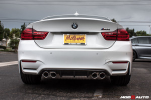 Brand New 2015 BMW M4 Comes To Mod Auto For  V1 Front Lip & Performance Style Rear Diffuser Upgrades.